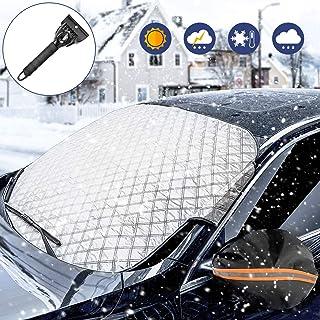 comprar comparacion WisFox Parabrisas del Coche Cubierta de Nieve Parabrisas Protector de Pantalla Solar Cubierta de Polvo UV Cubierta de Hiel...