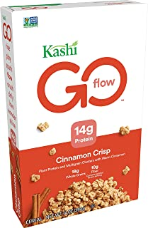 Kashi GO Cinnamon Crisp Breakfast Cereal - Non-GMO | Vegan | 14 Ounce (Pack of 4)