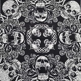 KUSTOM FACTORY - Foulard a bandana, con teschio, 55 x 55 cm