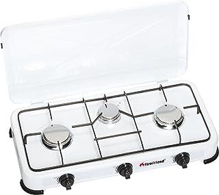 Firefriend - Réchaud à gaz - 3-Brûleurs - 2x 1500 Watt et 1x 1000 Watt - Blanc