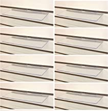 Clear Slatwall Shelves 4 Inch x 10 Inch Set of 8 Retail Display