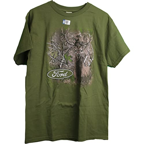 5d3ff3e1a8ff2 Ford True Timber Camo Trucks Wooded Camo with Deer Adult Men's T-Shirt