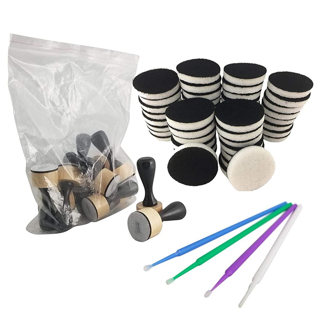Tim Holtz - Ranger - Ink Mini Ink Blending Tool Big Pack of 12-1 Inch Ink Round Blending Replacement Foams, Mini, 50-Pack