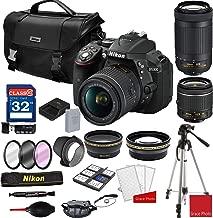 Nikon D5300 DSLR Camera with AF-P 18-55mm and 70-300mm Zoom Lenses + Nikon DSLR Camera Case + 32GB Memory Bundle (25pcs)