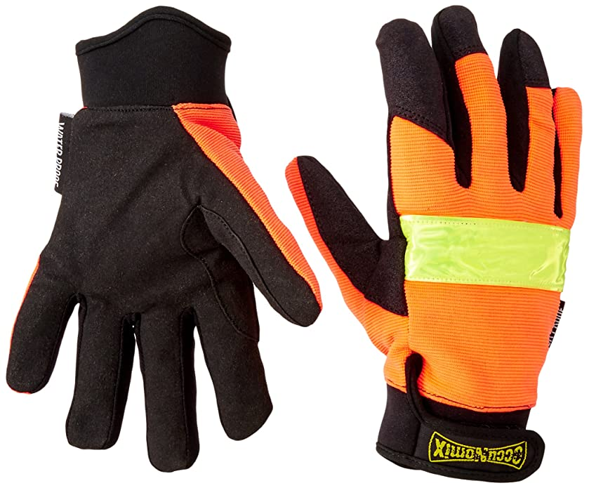 Occunomix 485W-072 Classic High Visibility Cold Weather Work Gloves, Small, Orange/Black