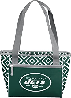 NFL Patterned 16-Can Cooler Tote with Front Dry Storage Pocket