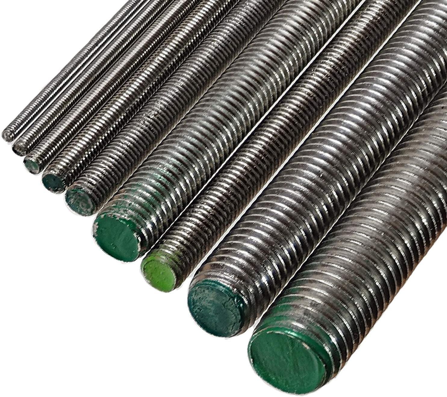 Rodamientos roscados 50 unidades, DIN976A, M10 x 160, hierro galvanizado brillante