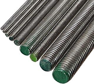 5 barras roscadas de acero inoxidable A2 M16 x 1000 mm • DIN 976 / DIN 975 • Perno roscado con 16 mm de diámetro y 1 m de longitud • Material A2 (VA / V2A)