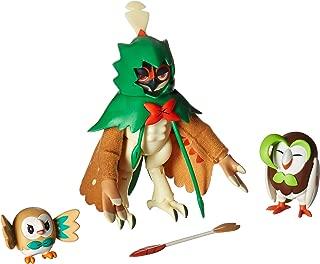 Pokemon Decidueye Evolution 3 inch Action Figure - Rowlet