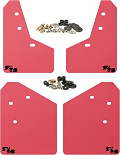 RokBlokz Mud Flaps for 2013-2017 Subaru XV Crosstrek - Multiple Colors Available - Mud Guards are Custom Cut and Fit - Includes All Mounting Hardware (Red with Black Logo)