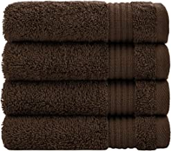 Luxury Turkish Cotton Washcloths for Easy Care, Extra Soft and Absorbent, Fingertip Towels, 4 Pack Washcloth Set by United...
