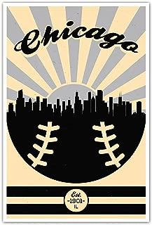 ArtsyCanvas Chicago White Sox Vintage Baseball Poster (12x18)