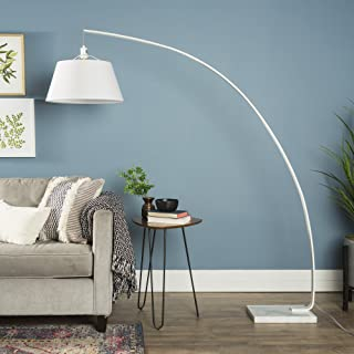 WE Furniture AZIFL72FLEWH Arch Floor Lamp 72