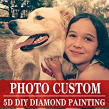 Private Custom Your Own Personalized Picture/Custom Diamond Painting Full Drill Kits for Adults/Birthday Gift Home Wall Decor 23.6×35.4 in/60×90 cm