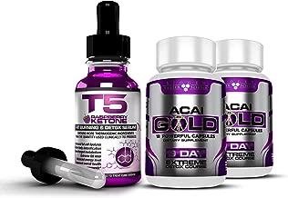 Biogen Health Science Pure Raspberry Ketone Liquid & Acai Berry Gold: Complete Detox, Colon Cleanse & Weight Loss / Slimming Bundle. (Maximum Strength 1 Month Supply)