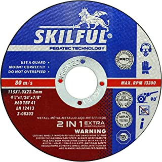 SKILFUL PRO cut off wheels 120-Pack,universal metal stainless steel cutting,4-1/2 inch