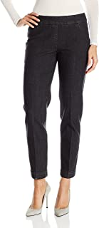 Women's Wide Band Pull On Ankle Pant with Tummy Control