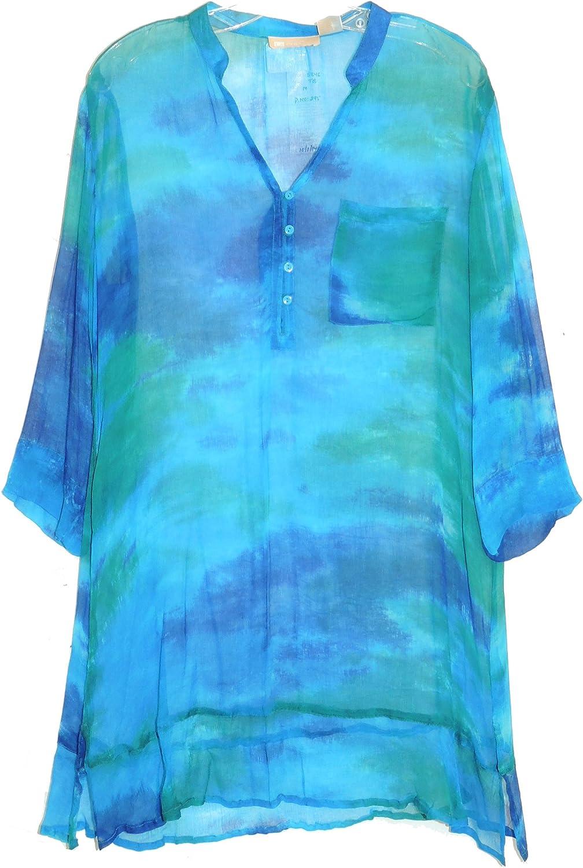 LA CERA Women's Tie Dye Cover-Up