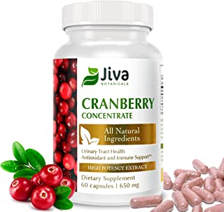 Cranberry Pills for Women and Men (650 mg) – High Potency Cranberry Extract Cranberry Capsules - All Natura...