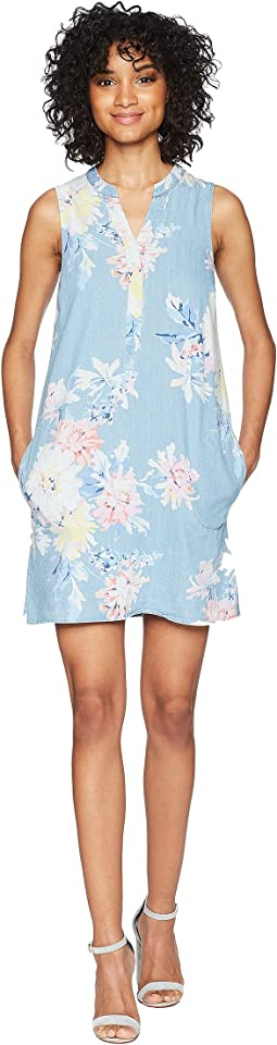 Joules - Tilda Chambray Tunic Dress with Pockets