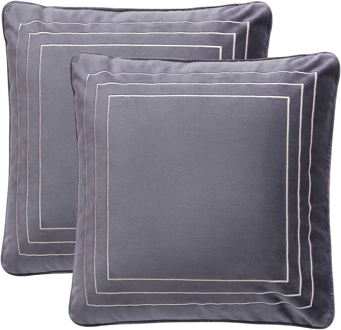 ALSCUEE Pack of 2 Decorative Velvet Covers Pillow 22x22 All stores are sold Throw Rare In