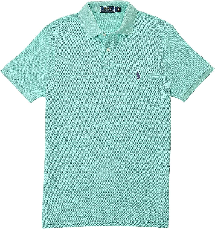 Polo by Ralph Lauren Mens Resort Green Heather Mesh Polo Shirt
