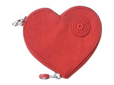 Kipling Heart Zip Pouch (Heart Read) Handbags