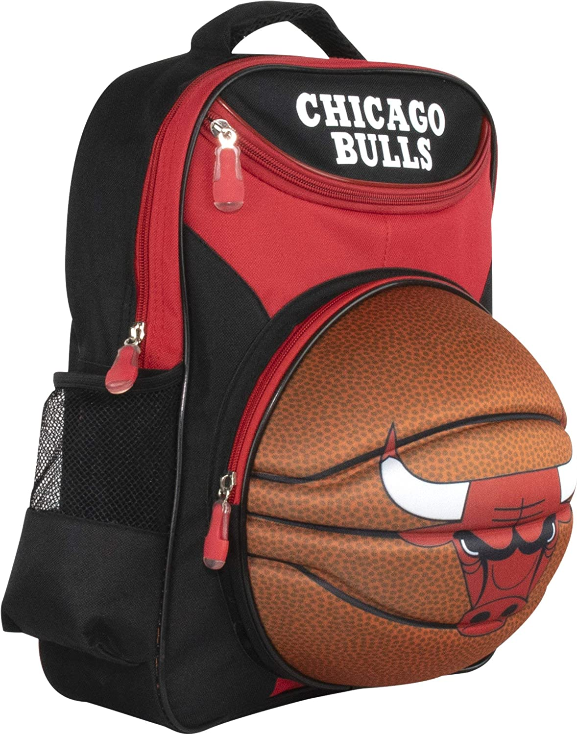 """Official Chicago Bulls Red Cheap and Black Backpack Wi Kids' 16"""" Max 88% OFF"""