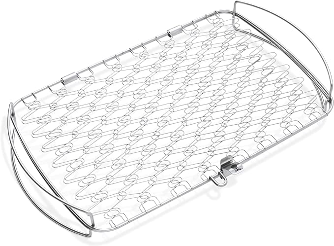 Weber 6471 Original Stainless Steel Fish Basket – The Best Grill Basket For Fish and Delicate Food