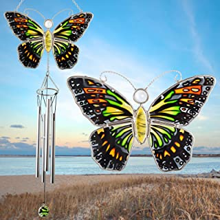 Grneric Wind Chimes MOM Outdoor Wind Chimes Butterfly Wind Chimes Butterflies Decoration,Windchimes Unique Outdoor Memoria...