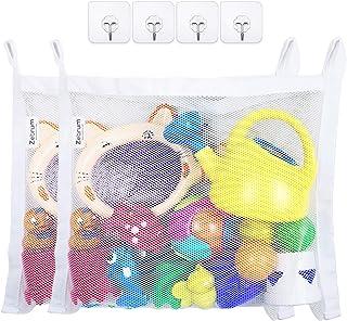 Grande bébé jouet Hamac/de bain de jouets, blanc, 2 Pack Bath Toy Organizers