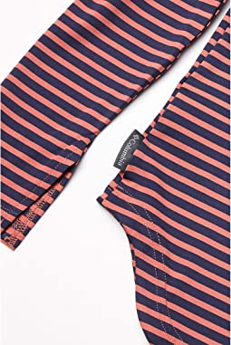 Dark Coral Medium Stripe