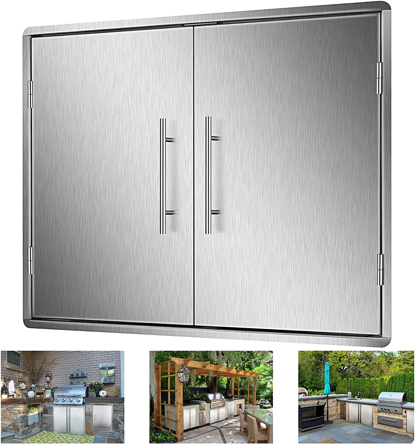Outdoor Kitchen New Free Shipping Doors 28 X 19 Do Inch Steel Access Year-end annual account Stainless BBQ