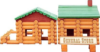 Smart Builder Cabin Log Set, Includes 100 Pieces of Interlocking Wood Logs