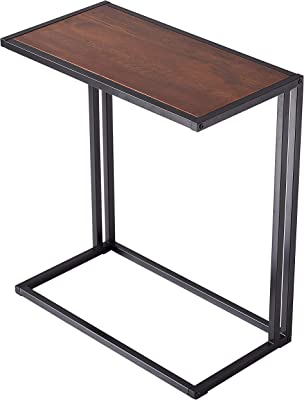 Amazon Com Homemaxs C Table Sofa Side End Table Wood Finish Steel Construction 26 Inch For Small Space Furniture Decor