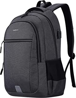 Veballensty 15/18 Inch Backpack Laptop, College School Computer Bookbag with USB Chargering Port (15.6 Inch, Grey01)