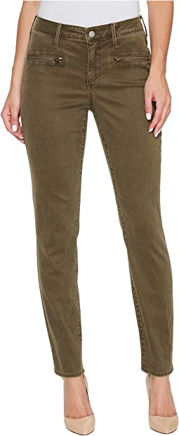 Skinny Chino Pants w/ Zipper
