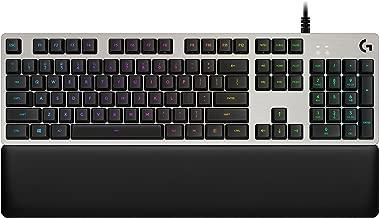 Logitech Keyboard - Backlit - USB - Key Switch: Romer-G Tactile - Silver
