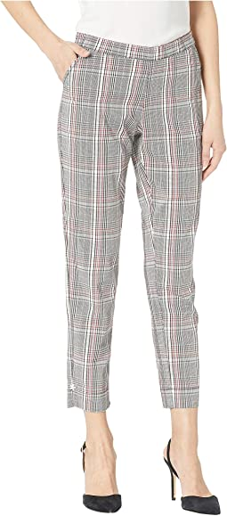 Ankle Slit Glen Plaid Loafer Skimmer Leggings