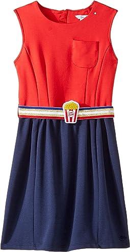 Little Marc Jacobs - Milano Pop Corn Belt Dress (Little Kids/Big Kids)