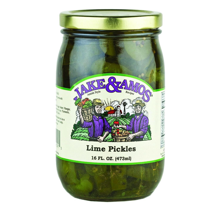 Spasm price Jake Amos Lime Pickles 16 2 Year-end gift Jar oz. Jars