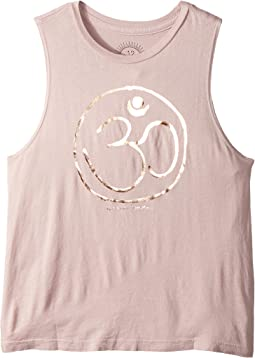Spiritual Gangster Kids - Om Logo Muscle Tank Top (Toddler/Little Kids/Big Kids)