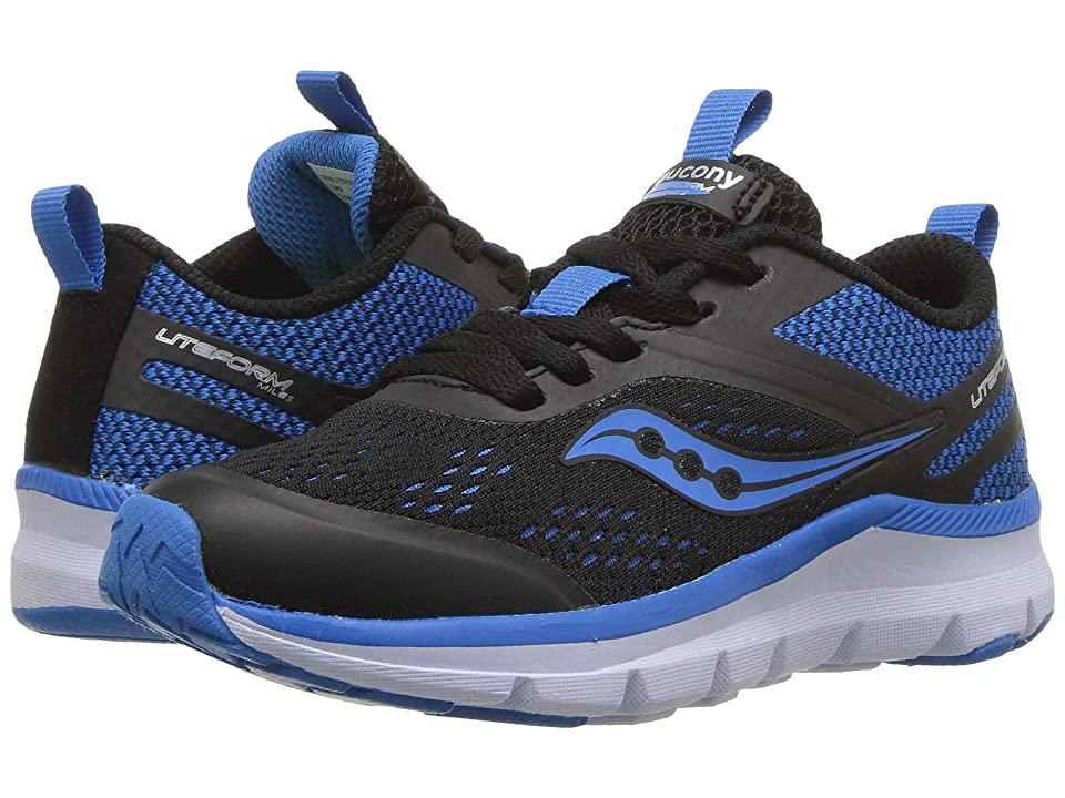 Saucony Kids Liteform Miles (Little Kid/Big Kid) (Black/Royal) Boys Shoes
