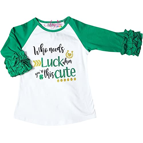 df37d03a Baby Toddler Little Girls Valentine's Day, St. Patrick's Day, Easter Raglan  T-