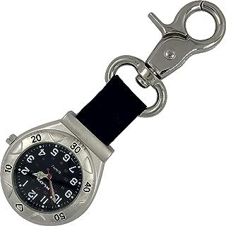 Belt Fob Watch with Nylon Strap - KLOX - Black Dial