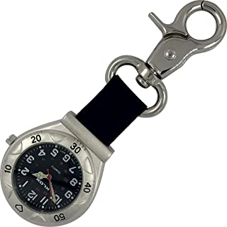 Belt Fob Watch with Nylon Strap - KLOX - Black Dial
