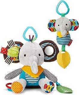Skip Hop Bandana Buddies Baby Activity & Teething Toy Set with Multi-Sensory Rattle & Textures, Elephant, Multi