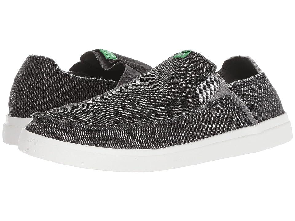 Sanuk Pick Pocket Slip-On Sneaker (Black) Men