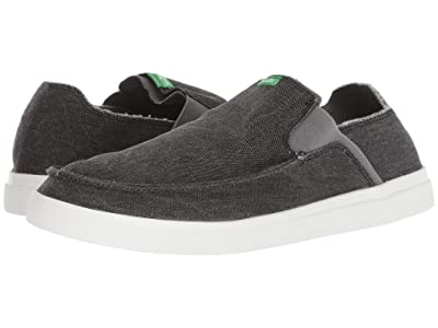 Sanuk Pick Pocket Slip-On Sneaker (Black) Men