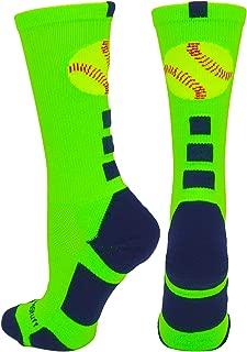 MadSportsStuff Softball Logo Athletic Crew Socks (Multiple Colors)